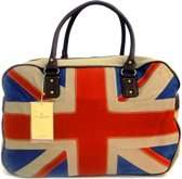 DAVID JONES Engelse Vlag Union Jack Canvas Weekendtas