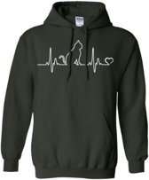 Hippe sweater   Hoodie   I Love Cats   Print Poes   maat XXL