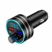 Wegman Bluetooth FM Transmitter voor in de auto - Handsfree Carkit - Fast charge USB poort - Led verlichting/scherm - Muziek Luisteren Streamen - Bellen - Auto lader - Frequentie - Audio - Zwart