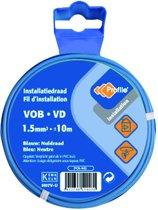 PROFILE installatiedraad VOB (België) VD (Nederland) - 1,5mm² - blauw - 10 meter