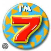 Paperdreams Button Klein - I'm 7