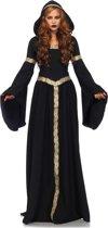 Pagan Witch Heks kostuum jurk met capuchon zwart - M/L - Leg Avenue
