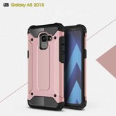 Samsung Galaxy A8 (2018) Armor Hybrid Case - Rose Gold