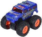Free And Easy Speelgoedauto Monstertruck Frictie 9 Cm Blauw