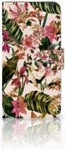 Huawei Y6 2018 Uniek Boekhoesje Flowers