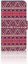 Motorola Moto G6 Play Uniek Boekhoesje Aztec Purple