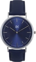BK AMSTERDAM - Classic Blue Rokin Horloge