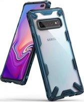 Ringke Fusion X Samsung Galaxy S10 Plus Hoesje Blauw