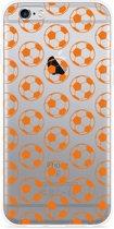 iPhone 6 Plus/6S Plus Hoesje Orange Soccer Balls