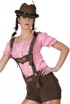 Oktoberfest - Bruine lederhosen voor dames 44-46 (2XL/3XL)