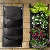 Plantenhanger 4 zakken - Plantenbak - Plantenrek - Hangende tuin - Verticale moestuin