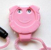 Brei en haak toerenteller met koord - grappige roze toerenteller voor breien en haken