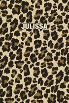 Julissa: Personalized Notebook - Leopard Print (Animal Pattern). Blank College Ruled (Lined) Journal for Notes, Journaling, Dia