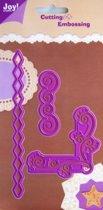Snijmal en Embosmal - Assortiment hoek en randen - Joy Crafts - 6002/0013