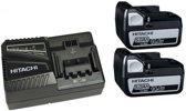 Hitachi 714905 Powerpack 14.4V Li-Ion accu starterset (2x 5.0Ah) + lader