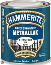 Hammerite Metaallak Structuur Wit 0,75L