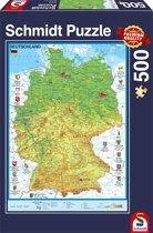 Schmidt puzzel kaart Duitsland 500 stukjes