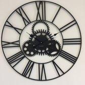 Wandklok Black Wheel XL