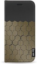 Casetastic Wallet Case Black Samsung Galaxy J5 (2017) - Golden Hexagons