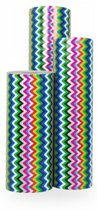 Cadeaupapier Deluxe ZigZag - Rol 50cm - 200m - 80gr | Winkelrol / Toonbankrol / Geschenkpapier / Kadopapier / Inpakpapier