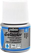 Pébéo Setacolor Zilveren Textielverf - 45ml textielverf voor donkere en lichte stoffen