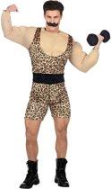 Opblaas Dikmaak & Spierballen Kostuum | Sterke Man Uit Het Circus Kostuum | Medium / Large | Carnaval kostuum | Verkleedkleding