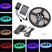 5M RGB SMD Flexible Lamp Strip Light +20 Key IR Remote en adapter