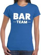 Bar Team tekst t-shirt blauw dames - personeel / bar team shirt XL