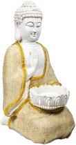 Boeddha van Vrede met waxinelichthouder (20x16x33 cm)