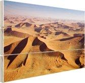 Namibie Woestijn Hout 160x120 cm - Foto print op Hout (Wanddecoratie) XXL / Groot formaat!