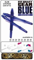Cosmo Fit Shaft Gear Slim Locked Clear Blue  Set à 3 stuks Size 2 - 18mm
