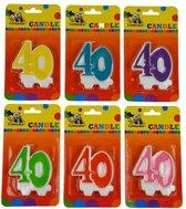 Cijferkaars 40 jaar  Blauw