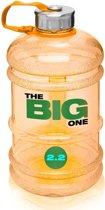 #DoYourFitness - Sportdrankfles - »TheBigOne« - waterfles / watercan van tritan materiaal - 2,2 Liter - oranje