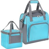 Basis - Sterke koeltas set - 25 + 10 Liter - Coolerbag Blauw