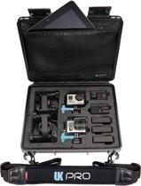 UKPro POV40 schokbestendige, waterproof Case met schouderriem - zwart