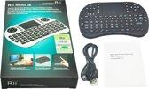 Draadloos mini multimedia toetsenbord met touchpad + oplaadbare accu