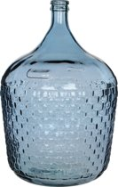 Diego weave fles met reliëf blauw van gerecycled glas