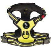 Frenkiez reflective no pull dog harness yellow/green, X-Small