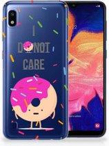 Samsung Galaxy A10 Hoesje TPU Roze-transparant Donut