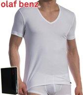 Olaf Benz Deep V-neck T-shirt - Wit - Extra Large
