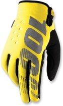 100% Brisker fietshandschoenen geel/zwart Handschoenmaat S