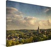 Uitzicht over de Duitse stad Wuppertal Canvas 180x120 cm - Foto print op Canvas schilderij (Wanddecoratie woonkamer / slaapkamer) / Europese steden Canvas Schilderijen XXL / Groot formaat!