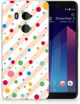 HTC U11 Plus TPU-siliconen Hoesje Design Dots