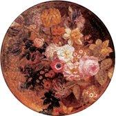 UBY Red flower vloerkleed   vinyl   300cmx300cm