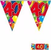3x vlaggenlijn / slinger 40 jaar met gratis sticker - leeftijd versiering