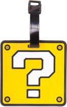 Nintendo - Question Mark rubberen kofferlabel geel - One size - Super Mario games merchandise