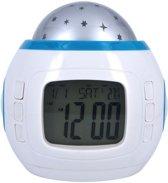 Licht en Projector Digitale Alarmklok - Wit - 10 Standen