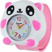 Fako® - Kinderhorloge - Slap On Mini - Panda - Roze