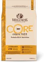 Wellness Core Grain Free Cat Sterilised Kip & Kalkoen - Kattenvoer - 10 kg