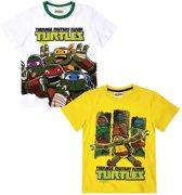 Ninja-Turtles-2-pak-T-shirt-wit-maat-134